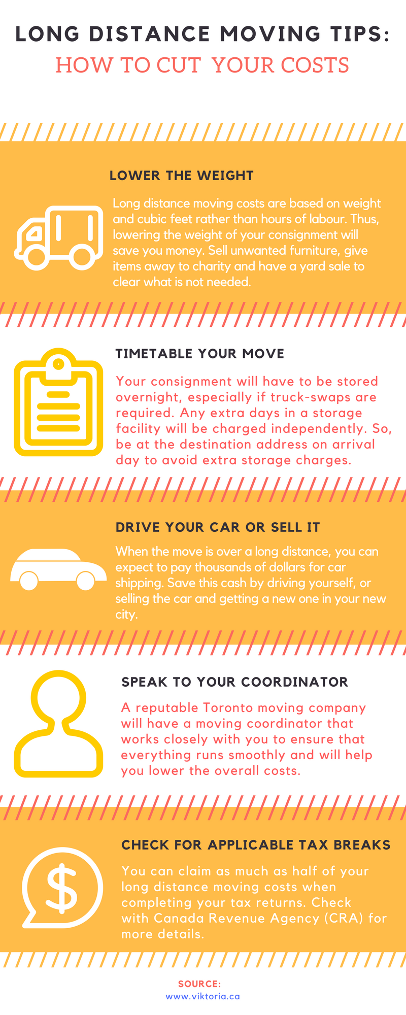 Viktoria Movers Toronto - Long Distance Moving Tips Infographic